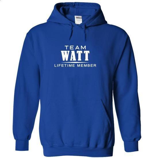Team WATT, Lifetime member - #lace sweatshirt #sweatshirt for girls. PURCHASE NOW => https://www.sunfrog.com/LifeStyle/Team-WATT-Lifetime-member-sgmwuppqiq-RoyalBlue-18691859-Hoodie.html?68278