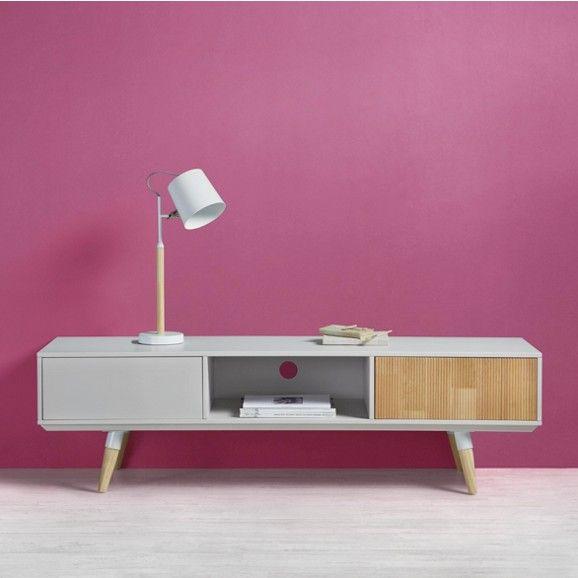 TV-Element in Weiß und Natur | TV & Phonomöbel, Vinyl Storage ...