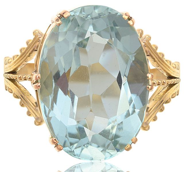 Magnificent Aquamarine Antique Ring