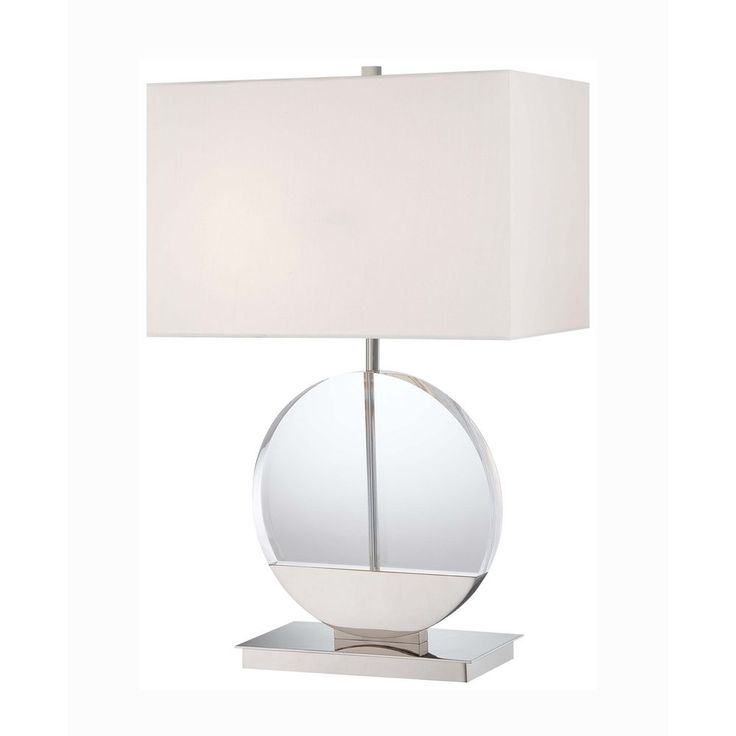 George Kovacs Lighting Modern Table Lamp with White Shades in Polished Nickel Finish P764-613