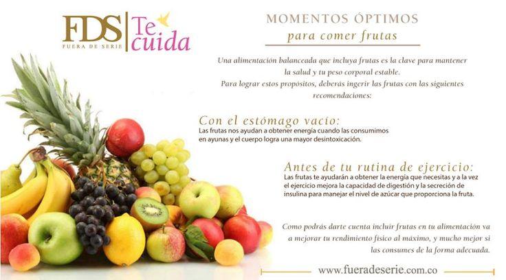 La fruta es nutritiva en algunos momentos del dia.