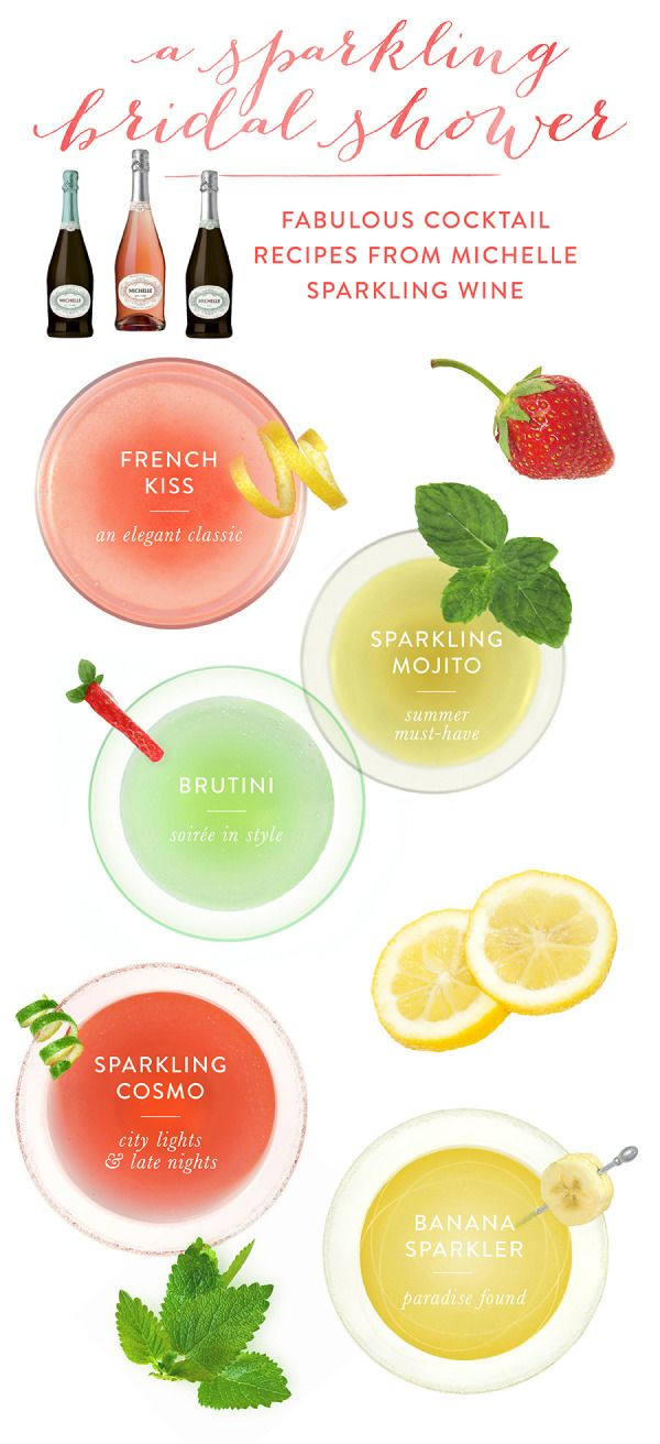 Cocktail Recipes from Michelle Sparkling Wine - Style Me Pretty