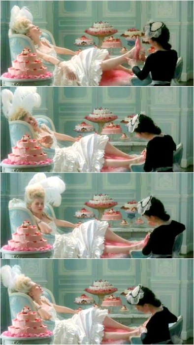 Marie Antoinette gets a pedi movie scene with Kirsten Dunst  -Spa day indulgence pedicure