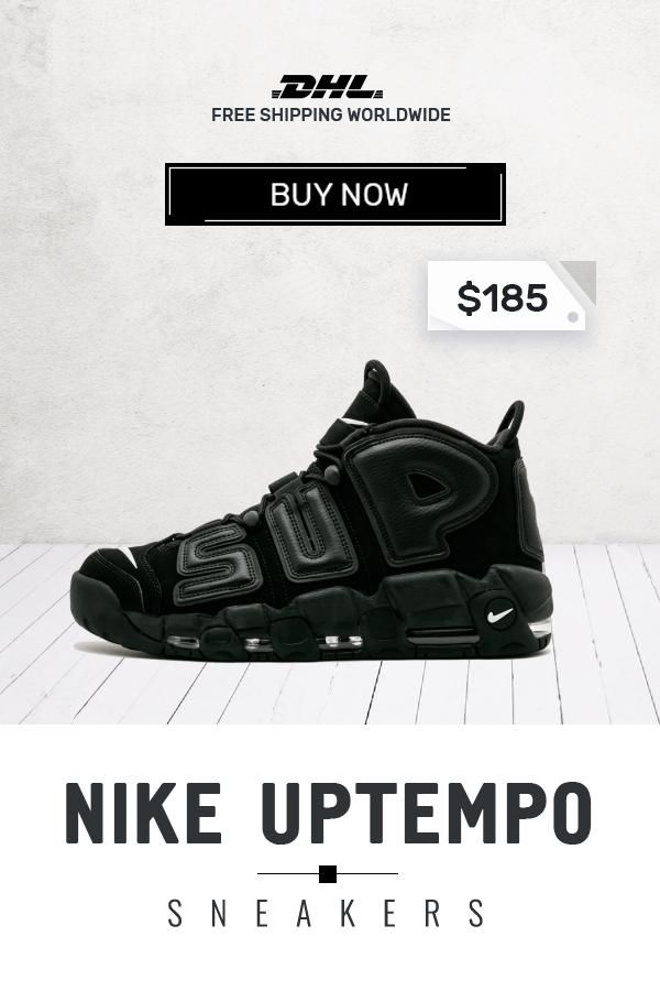 quality design 49720 a3e5d Buy original Nike UPTEMPO Supreme Black trainers  sneakers  fashion  shoes   sport
