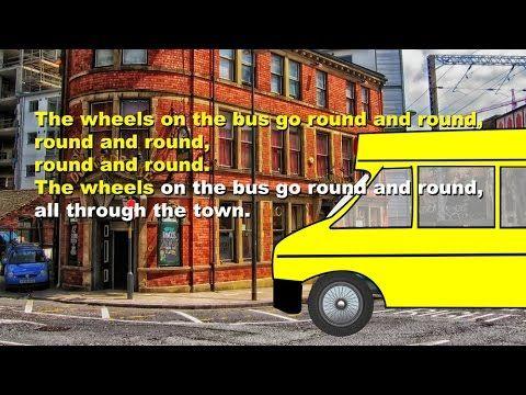 Wheels on the bus (instrumental - lyrics video for karaoke)