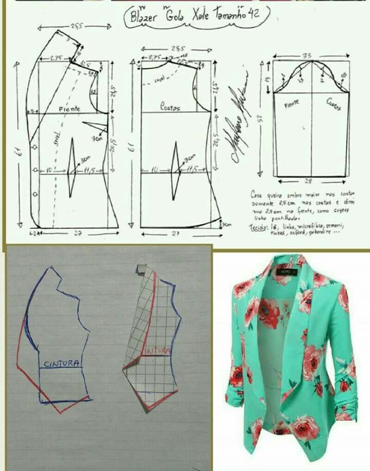 Costura | collars | Pinterest | Sewing, Sewing patterns and Jacket ...