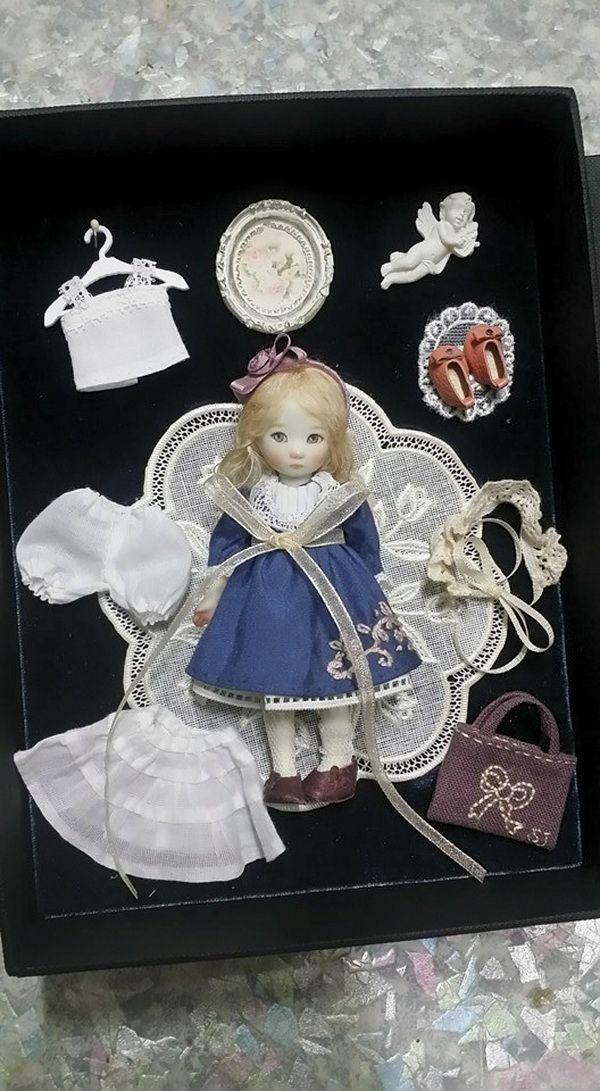 Encantadores muñecos poco miniatura Sun Joo Lee - Feria Maestros - hecho a mano, hecho a mano