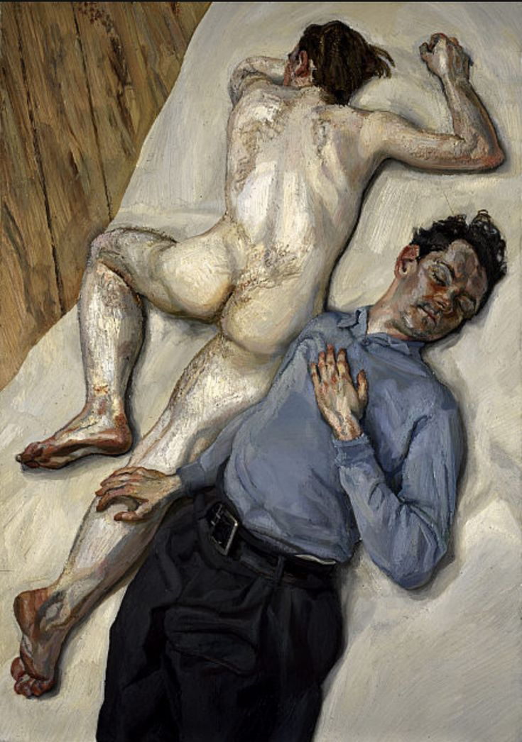 "thenewloverofbeauty: ""Lucian Freud: Two Men (1988) """