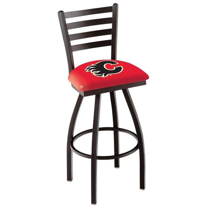 Use this Exclusive coupon code: PINFIVE to receive an additional 5% off the Calgary Flames Bar Stool with Back at SportsFansPlus.com