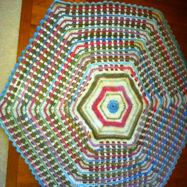 Crochet Afghan Patterns Youtube : My new afghan. Pretty pattern I learned from YouTube. crochet ...