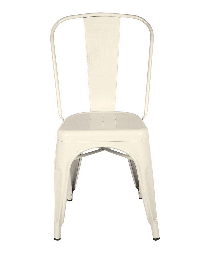 Cream Metal Dining Chair