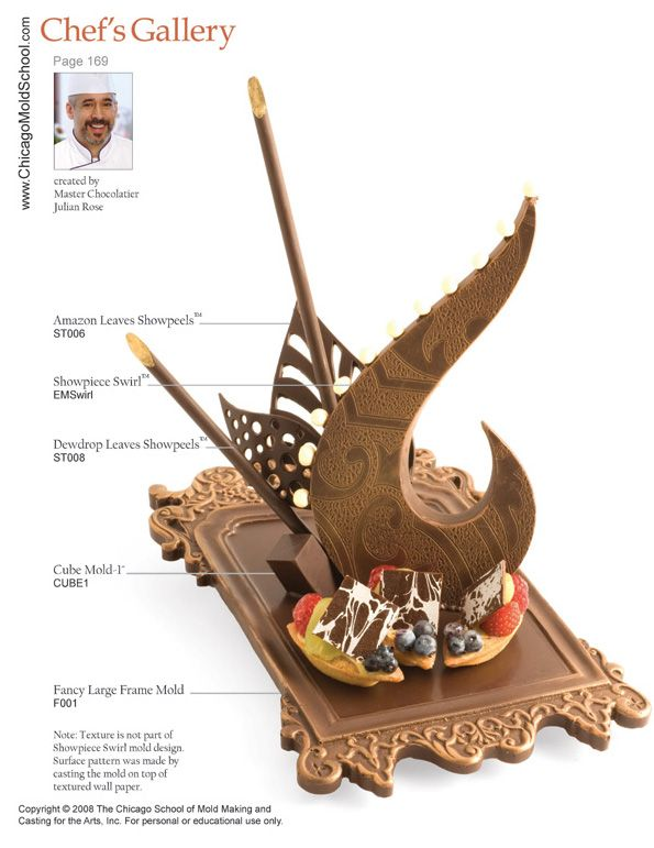 Chocolate Showpiece created by Pastry Chef Julian Rose.
