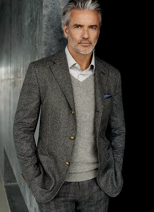 ♂ Masculine and elegance gentleman style Classy grey