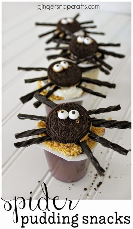 spider pudding snacks snackpackmixins collectivebias shop - Pudding Halloween Desserts