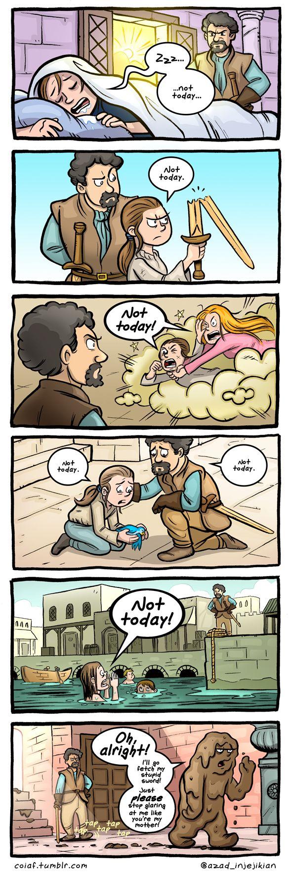 Lazy Arya - ASoIaF / Game of Thrones by Azad-Injejikian.deviantart.com on @deviantART