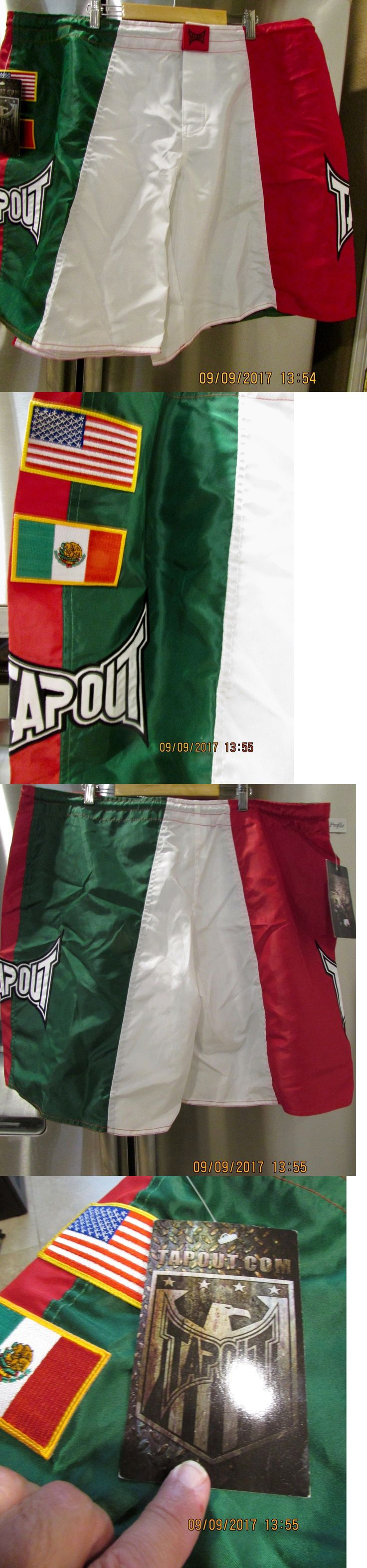 Shorts 73982: Tap Out ~ Red White Green ~ Mma Shorts ~ Mexican American Flags ~ Sewn ~ 42 -> BUY IT NOW ONLY: $37.8 on eBay!