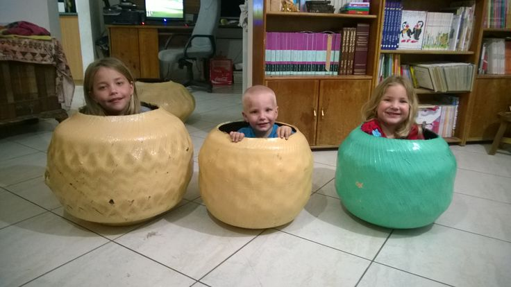 family fun with flipped recycled tires