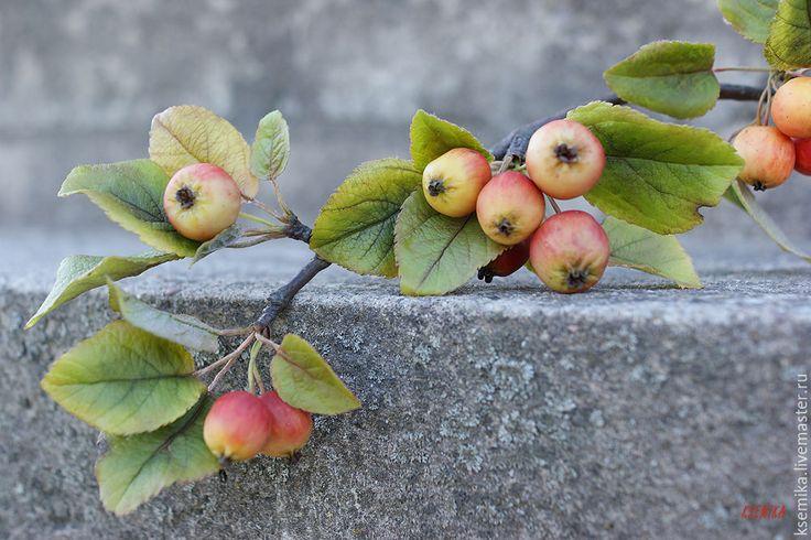 Создаем веточку яблони из полимерной глины - Ярмарка Мастеров - ручная работа…