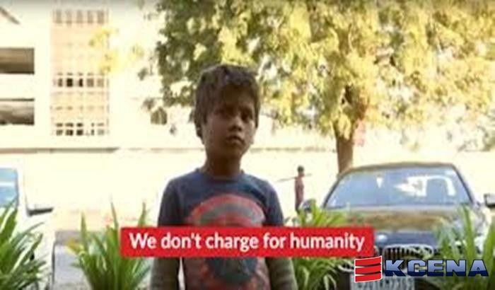 We don't charge for humanity.Não cobramos pela caridade