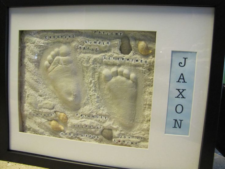 how to make baby footprint mold