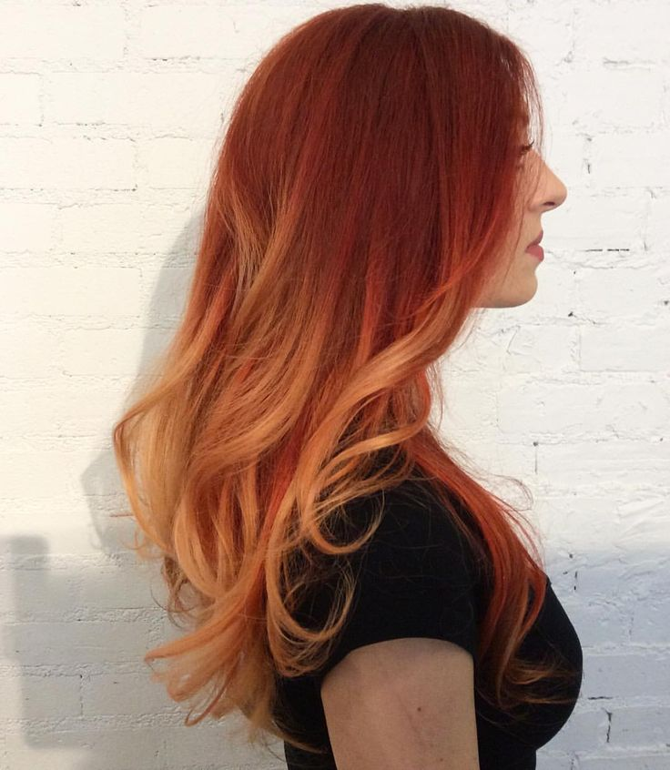Fire ombre! One-step color with balyage    #redombre #redbalyage