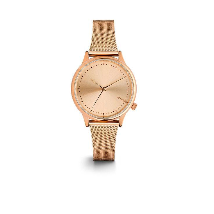 Montre Estelle Royale Rose Gold - Komono - Raffinée, minimaliste, contemporaine… Découvrez cette montre Komono qui illustre une évidente exigence esthétique en question de style ! Sublimant la matière, cette montre design convient aussi bien au poignet de la femme que de l'homme. Son élégant cadran en fait un accessoire d'exception dans l'air du temps, idéal pour les amateurs d'accessoires et de bijoux tendances.