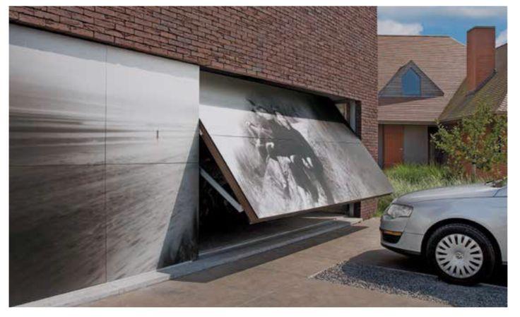 10 idées de portes de garages moderne...Porte basculante Motif 905 (crédit photo Hormann)