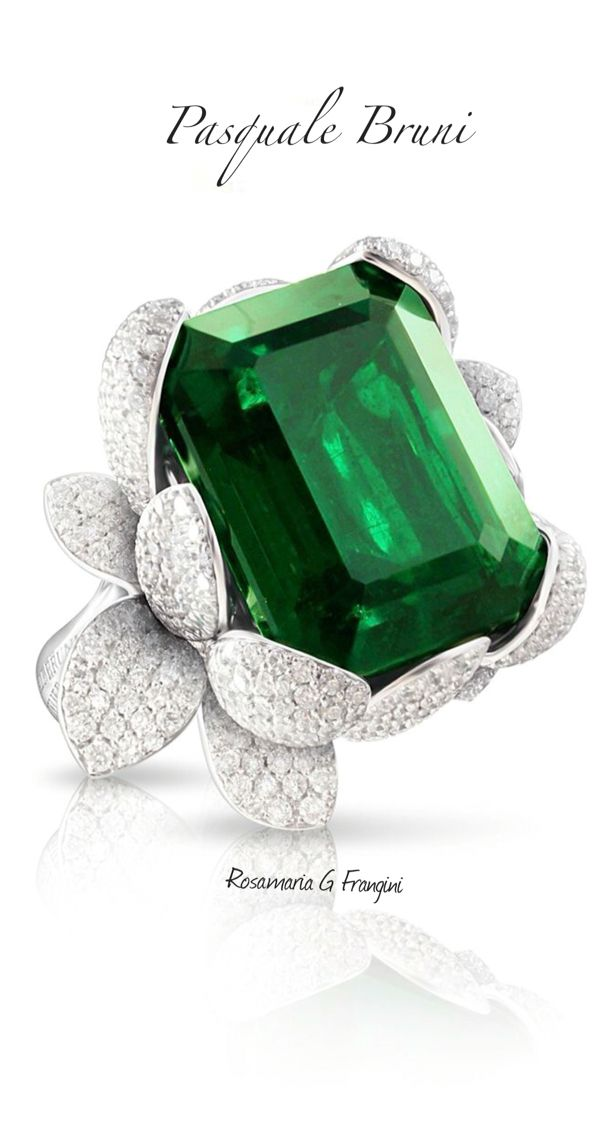 High Green Jewellery   TJS   Emerald And Diamond Cocktail Ring by Pasquale Bruni