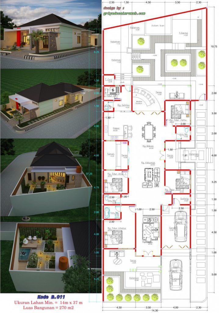 Denah Rumah Mewah 2 Lantai Dengan Kolam Renang Dan Taman Content