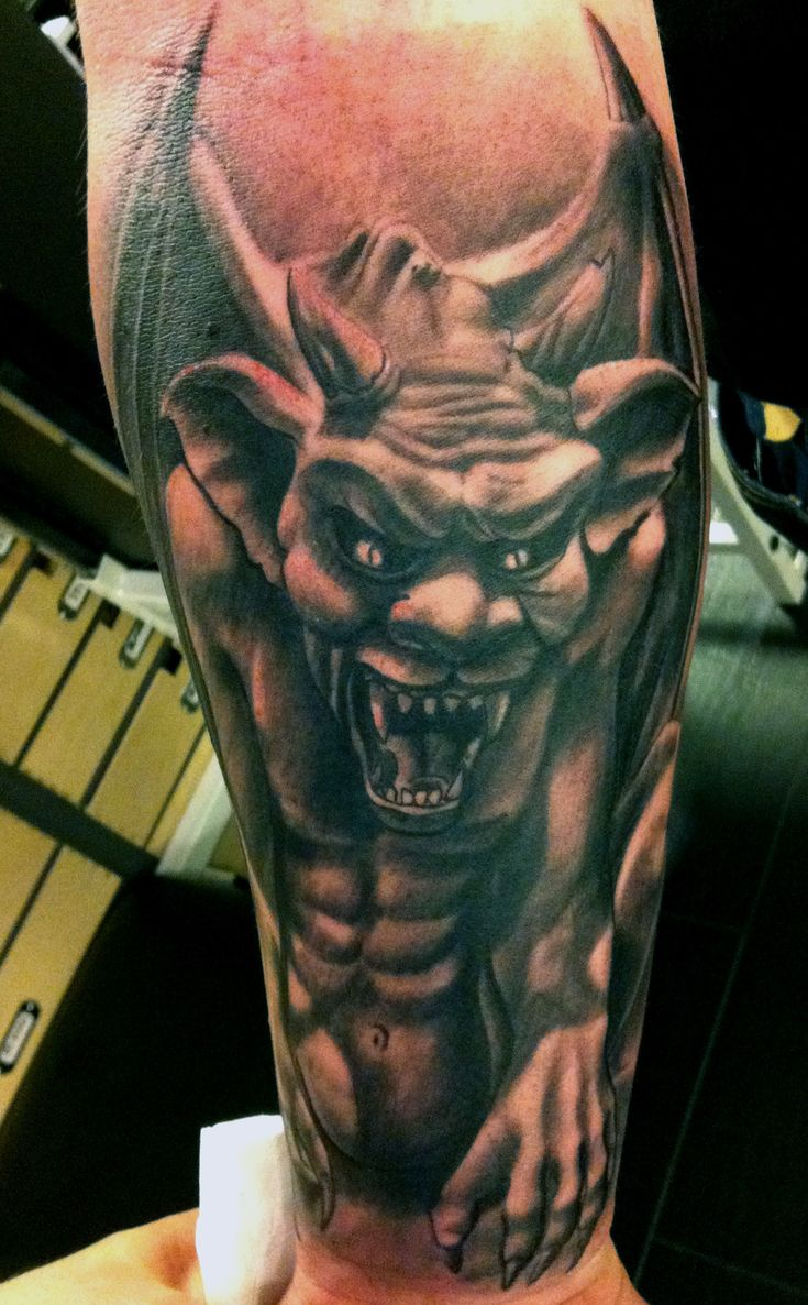 Cool gargoyle tattoo