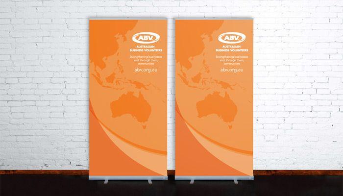 Australian Business Volunteers banner design http://www.spectrumgraphics.com.au/