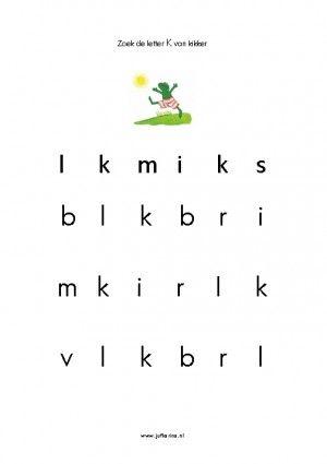 Werkblad letters: K
