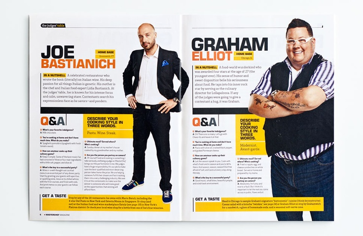 Partnering with Taste of Home and Reveille, we brought the bold flavor of MasterChef, one of the world's leading reality TV series, to the home cook across the country. With over 70 recipes from the show's second season and exclusive interviews with judges Gordon Ramsay, Joe Bastianich and Graham Elliot, the magazine inspires great food and culinary confidence. By designmeasure.com