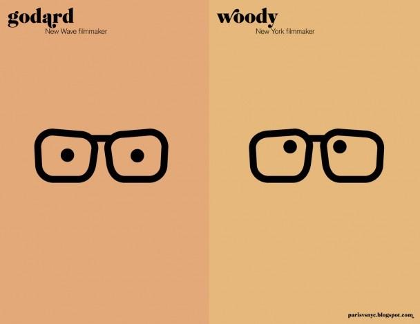 Paris VS New York.   Godard vs Woody.