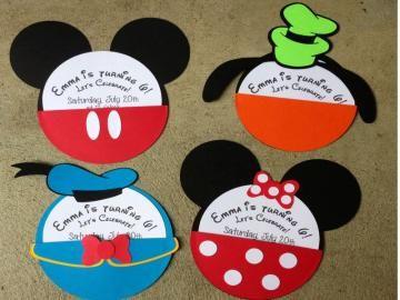 donald duck invitations Disney Character Invitations by Boo Boo