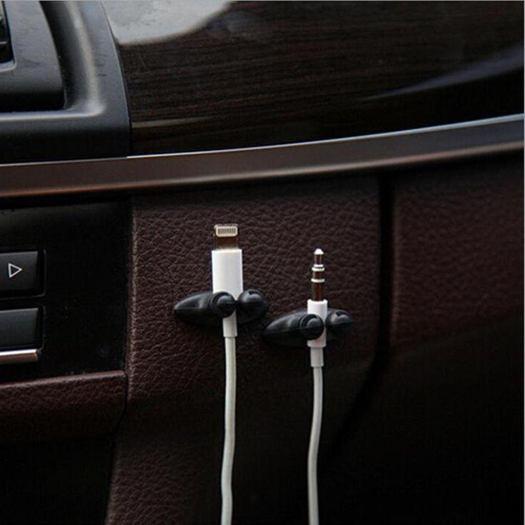 2pcs Good Quality Car Adhesive Headphone USB Charger Line Auto Multi-purpose Fastener Clip Car Accessories