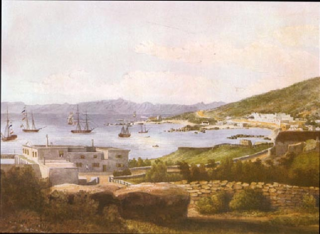 Simonstown: Water colour of Simonstown circa 1838 by Christopher Webb-Smith