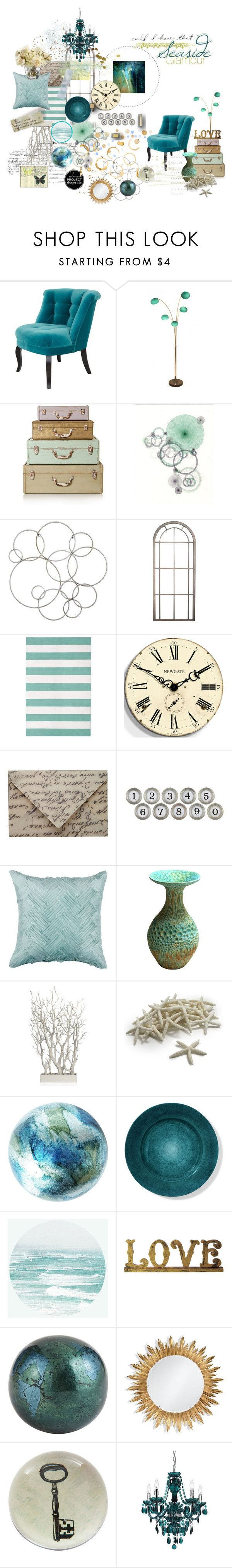 """Seaside Glamour"" by dlmusiel ❤ liked on Polyvore featuring interior, interiors, interior design, home, home decor, interior decorating, The Velvet Chair Company, Pier 1 Imports, Newgate and Fountain"