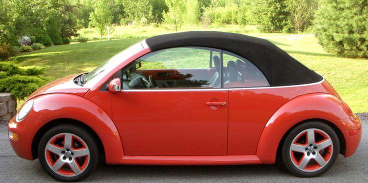 2009 2003 sundown orange volkswagen beetle convertible beep beep pinterest beetle. Black Bedroom Furniture Sets. Home Design Ideas