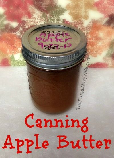 Canning Apple Butter - great way to use up all the apples we got from apple picking!