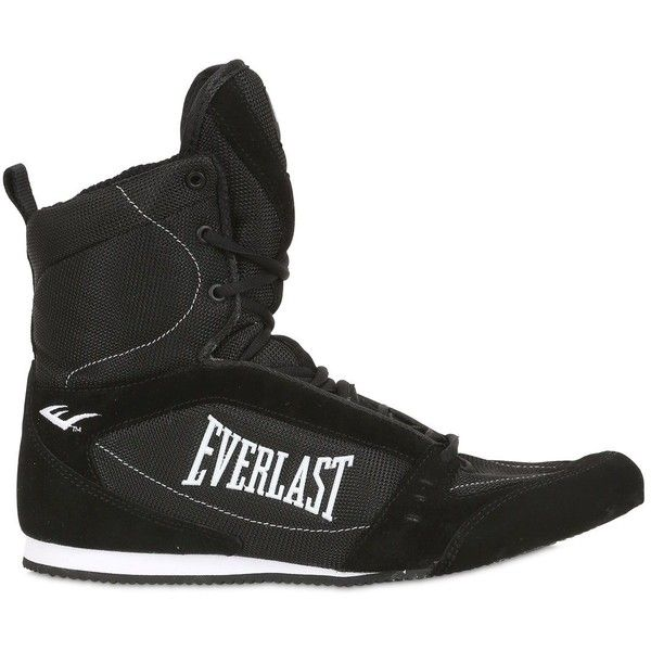 Everlast Men Competition High Top Boxing Sneakers (197 CAD) ❤ liked on Polyvore featuring men's fashion, men's shoes, men's sneakers and black