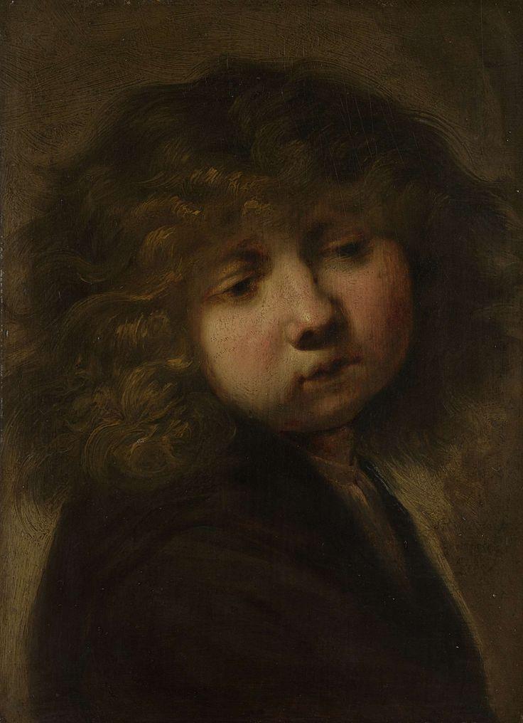 Jongenskopje, omgeving van Rembrandt Harmensz. van Rijn, na 1643 ik heb deze gekozen omdat dit jongetje zo mooi is