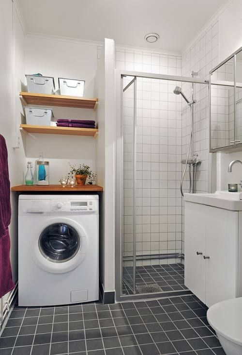 Ubicar la lavadora en el ba o decorar tu casa es - Ideas para decorar banos pequenos ...