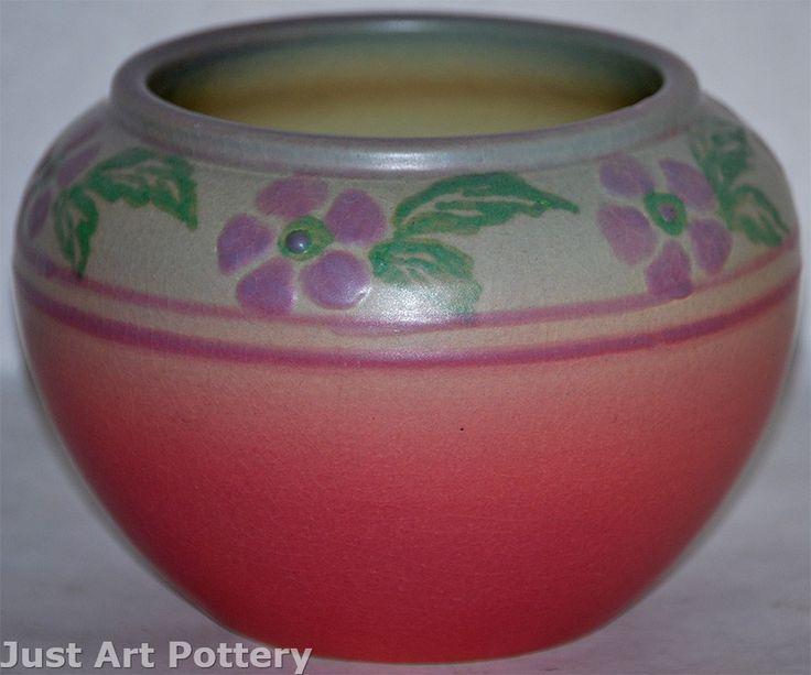 University Of North Dakota Pottery Prairie Roses Vase