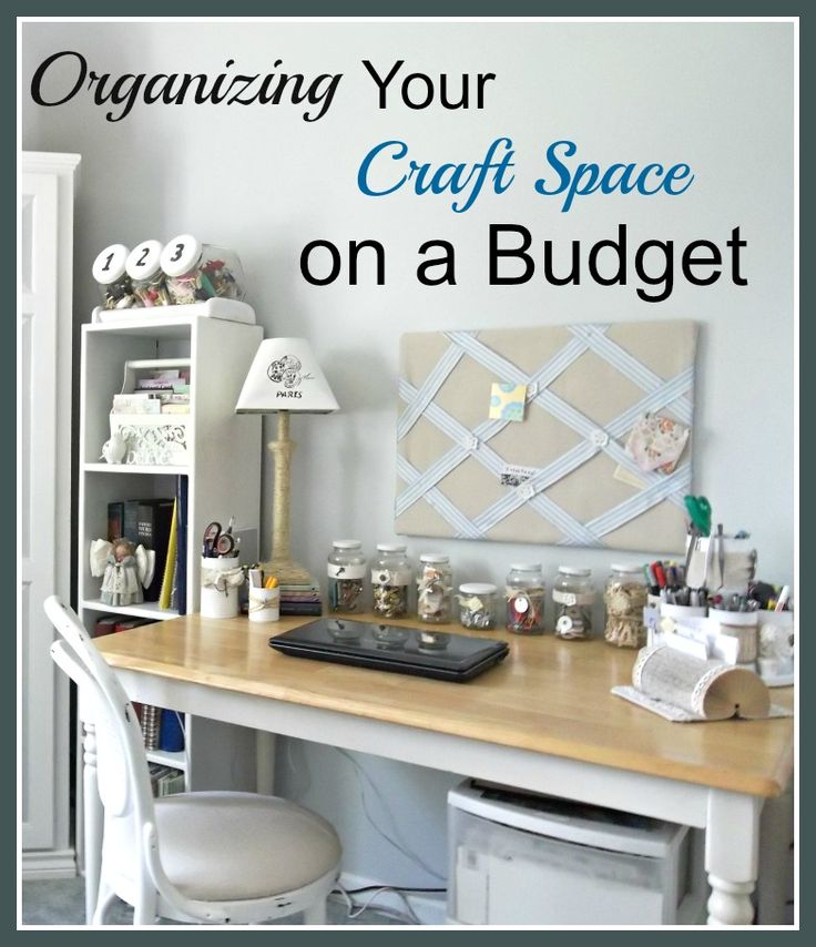 'Organizing Your Craft Room on a Budget...!' (via Vintage, Paint and more...)