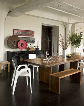 Love The Rustic Modern Accessories On Dining Table And Side Cabinet Noho Loft