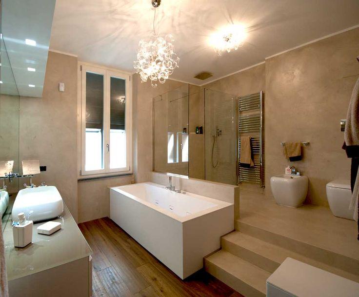 39 fantastiche immagini su bagno resina e microcemento su - Pavimento resina bagno ...