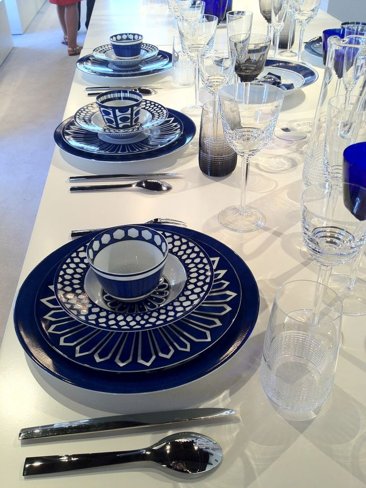 Hermes does its own graphic version of blue and white with Bleus d'Ailleurs.