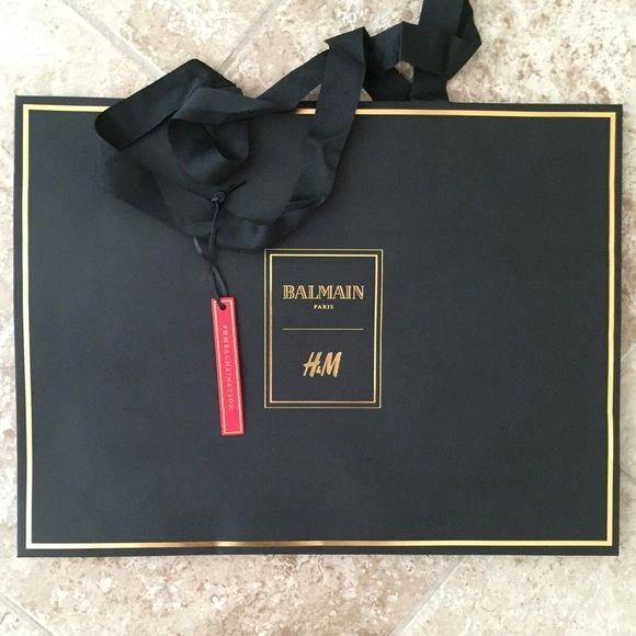 Balmain X H&M shopping bag Clean Balmain Bags