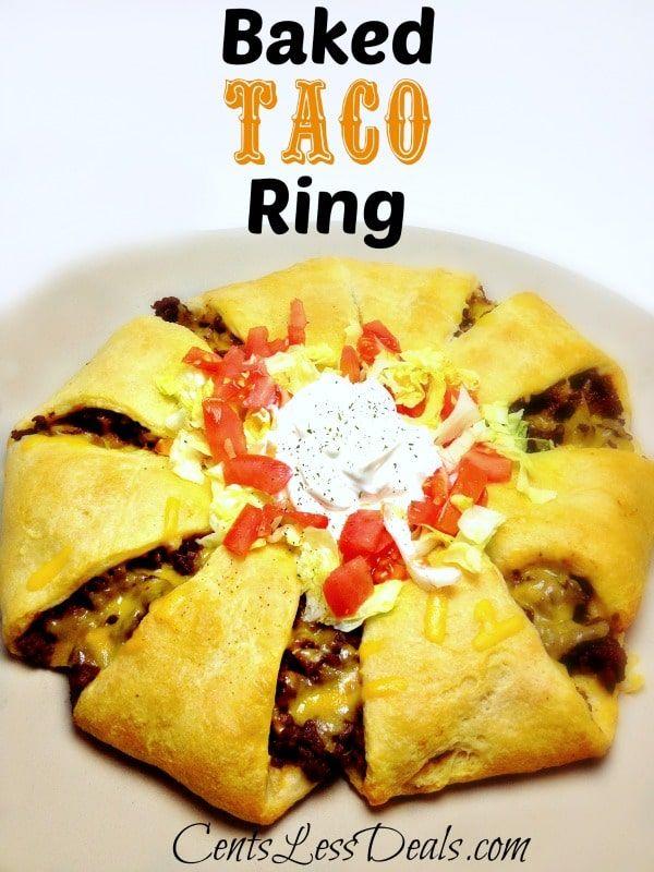 Baked Taco Ring recipe